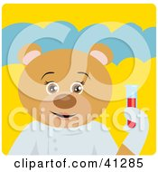 Clipart Illustration Of A Bear Scientist Character by Dennis Holmes Designs