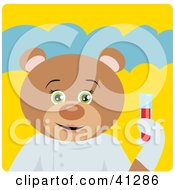 Clipart Illustration Of A Scientist Teddy Bear Character by Dennis Holmes Designs