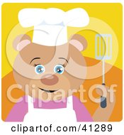 Clipart Illustration Of A Teddy Bear Chef Character