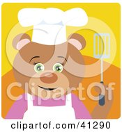 Clipart Illustration Of A Bear Chef Character