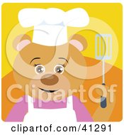 Clipart Illustration Of A Chef Teddy Bear Character