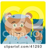 Clipart Illustration Of A Bear Painter Character
