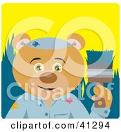 Clipart Illustration Of A Painter Teddy Bear Character