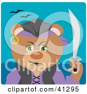 Clipart Illustration Of A Teddy Bear Female Pirate Character