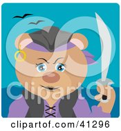 Clipart Illustration Of A Bear Female Pirate Character