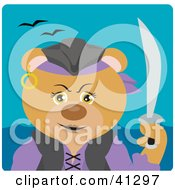 Clipart Illustration Of A Female Pirate Teddy Bear Character