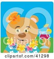 Teddy Bear Hawaiian Tourist Character
