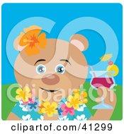 Bear Hawaiian Tourist Character