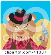 Clipart Illustration Of A Cowgirl Teddy Bear Character