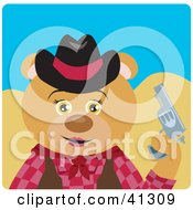 Clipart Illustration Of A Bear Cowgirl Character