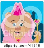 Clipart Illustration Of A Teddy Bear Princess Character
