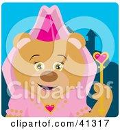 Clipart Illustration Of A Bear Princess Character