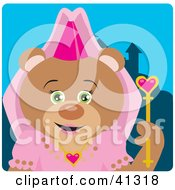 Clipart Illustration Of A Princess Teddy Bear Character by Dennis Holmes Designs