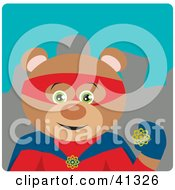 Clipart Illustration Of A Bear Hero Character