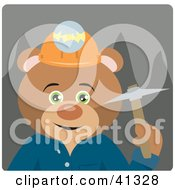 Clipart Illustration Of A Teddy Bear Miner Character