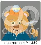 Mining Teddy Bear Character