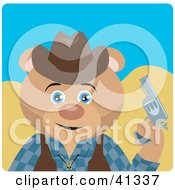 Clipart Illustration Of A Teddy Bear Cowboy Character
