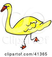 Walking Yellow Swan
