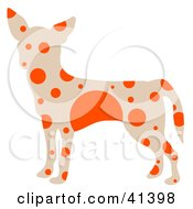 Clipart Illustration Of A Beige Profiled Chihuahua Dog With Orange Spots