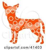 Orange Profiled Chihuahua Dog With Beige Circle Patterns
