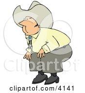 Cowboy Bending Over Clipart by djart