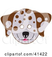 Clipart Illustration Of A Dalmatian Dog Face