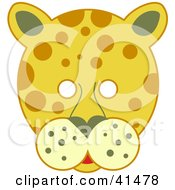 Clipart Illustration Of A Spotted Leopard Face