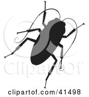 Clipart Illustration Of A Black Silhouetted Cockroach by Prawny