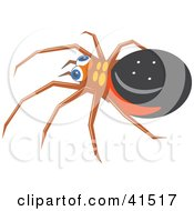 Clipart Illustration Of A Chubby Spider
