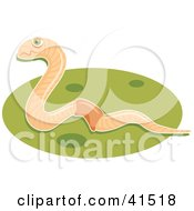 Clipart Illustration Of A Happy Earthworm On Green Grass by Prawny