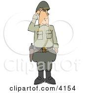 Military 5 Star General Saluting