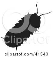 Clipart Illustration Of A Black Silhouetted Roly Poly