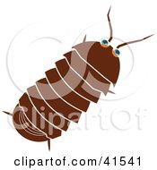 Clipart Illustration Of A Brown Roly Poly Bug