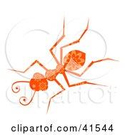 Clipart Illustration Of An Orange Floral Patterned Ant by Prawny