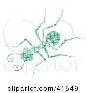 Clipart Illustration Of A Blue And Green Patterned Ant by Prawny