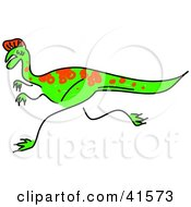 Clipart Illustration Of A Sketched Oviraptor