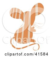 Orange And Beige Striped Patterned Mouse