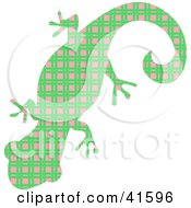 Clipart Illustration Of A Green And Pink Patterned Gecko