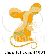 Orange And Blue Circle Patterned Mouse