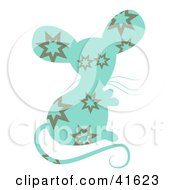 Blue And Brown Burst Patterned Mouse