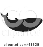 Clipart Illustration Of A Black Silhouetted Whale by Prawny