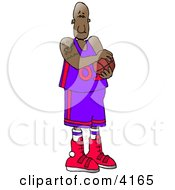 Professional African American Basketball Player Clipart