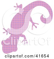 Clipart Illustration Of A Purple And Pink Patterned Gecko