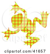Clipart Illustration Of A Yellow And Red Patterned Frog by Prawny