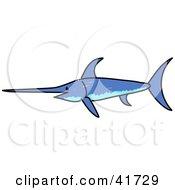 Sketched Blue Swordfish