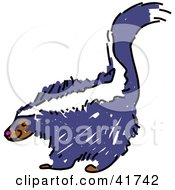 Sketched Purple Skunk