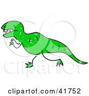 Sketched Green Tyrannosaurus Rex