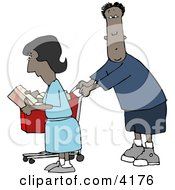 Ethnic Man And Woman Shopping Together In A Store
