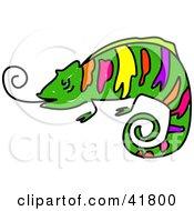 Sketched Colorful Chameleon