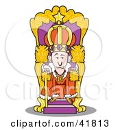 Clipart Illustration Of A Royal King Seated At His Throne by Andy Nortnik